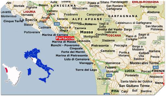 Cartina Italia Posti Di Mare.Mappa E Cartina Turistica Riviera Apuana